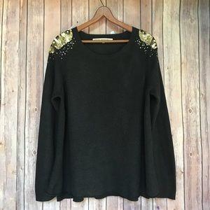Rachel Roy Glitter Sweater Sz XXL